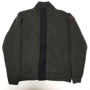 Stussy zip up wool blend Sweater size large